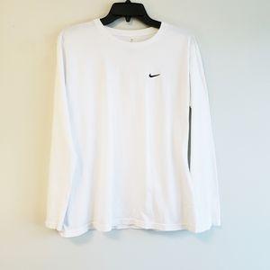 Kids Nike White Long Sleeve Shirt